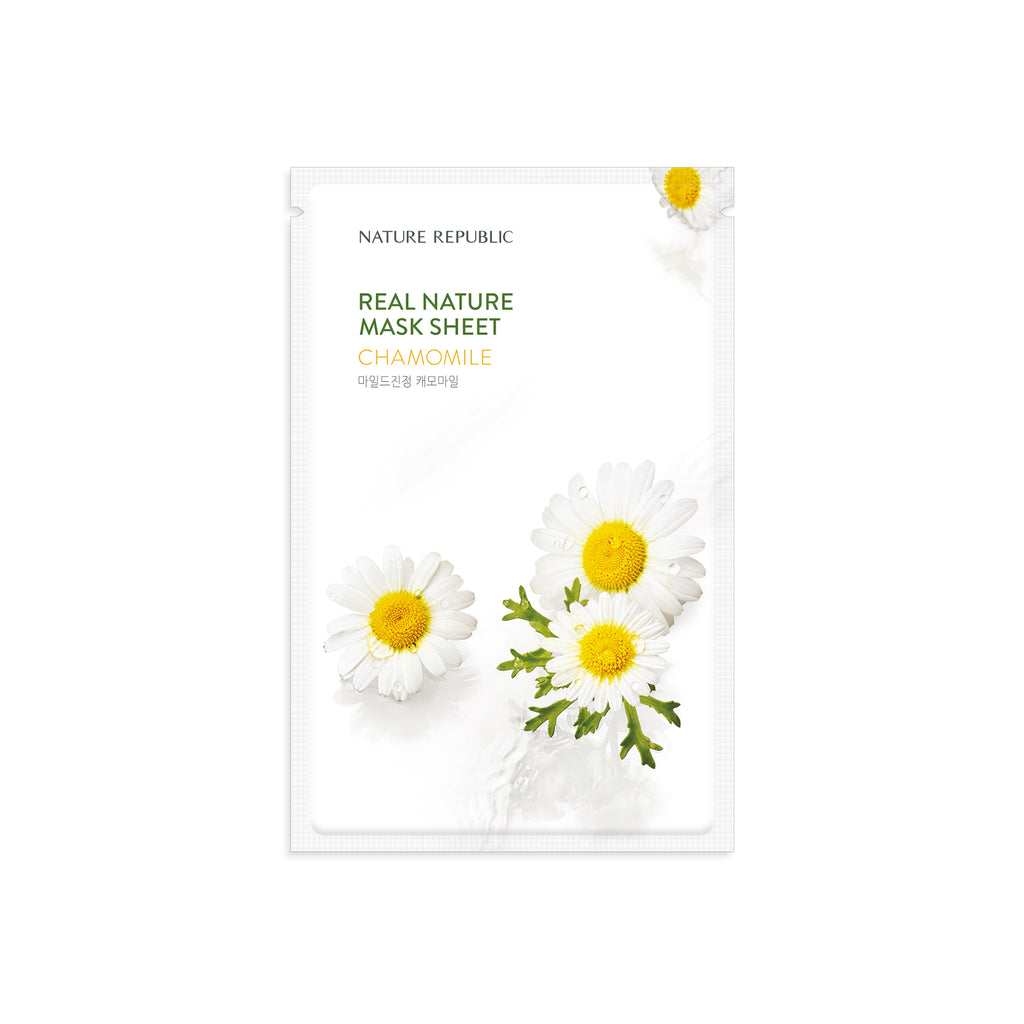 NRP1701 10+10 REAL NATURE CHAMOMILE MASK SHEET
