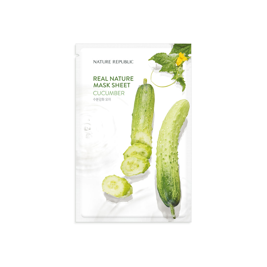 NRP1530 10+10 REAL NATURE CUCUMBER MASK SHEET