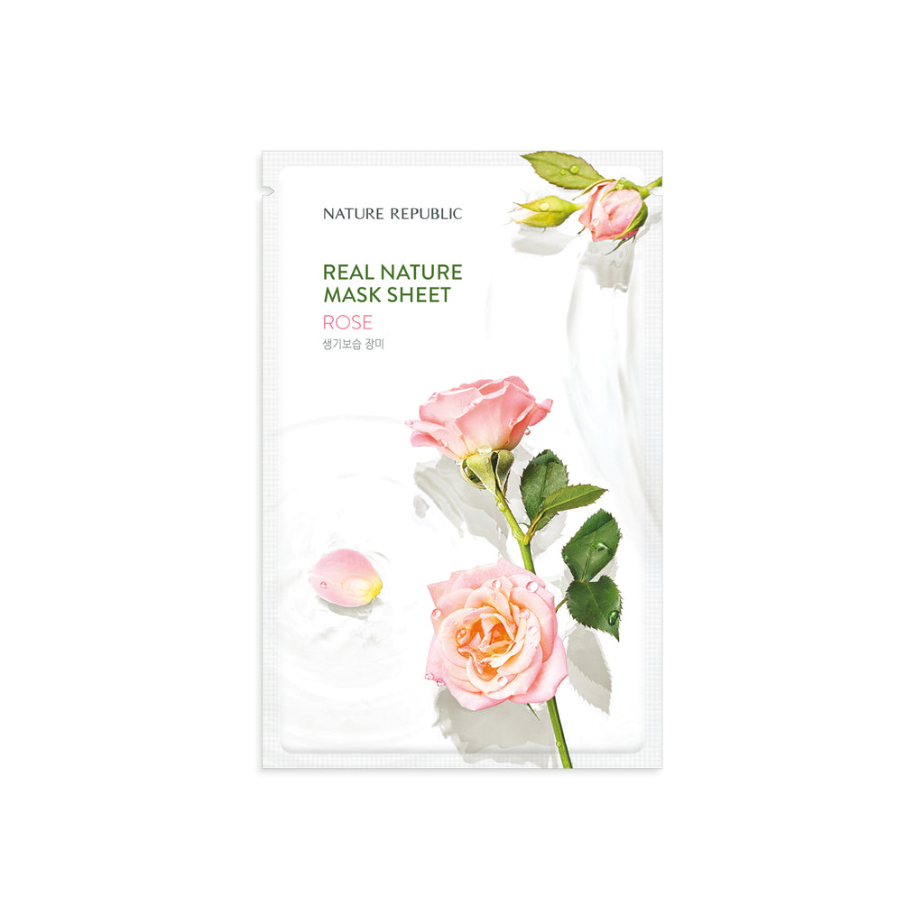NRP1529 10+10 REAL NATURE ROSE MASK SHEET