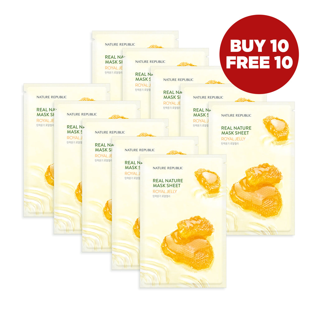 NRP1525 10+10 REAL NATURE ROYAL JELLY MASK SHEET