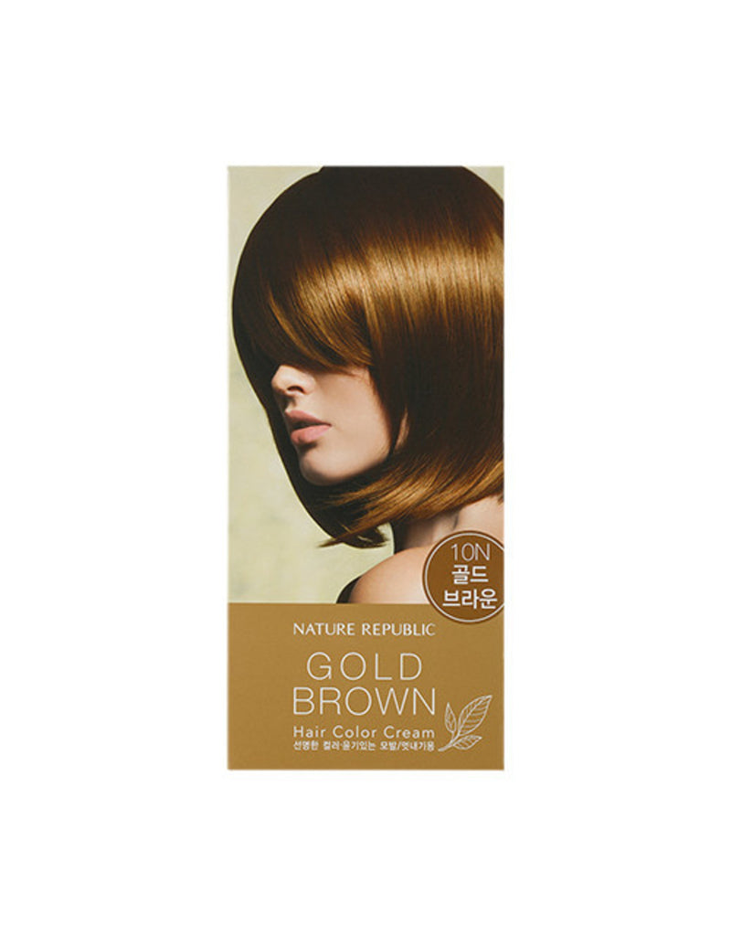 HAIR & NATURE HAIR COLOR CREAM 10N GOLD BROWN
