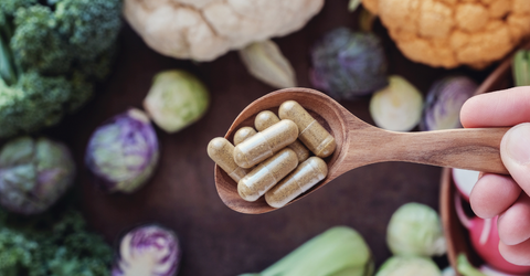 Spoonful of healthy supplements