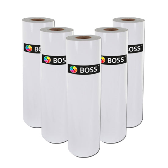 Low Melt GLOSS Roll Laminating (Encapsulation) Film - 25mm Core 75 micron - ALL WIDTHS