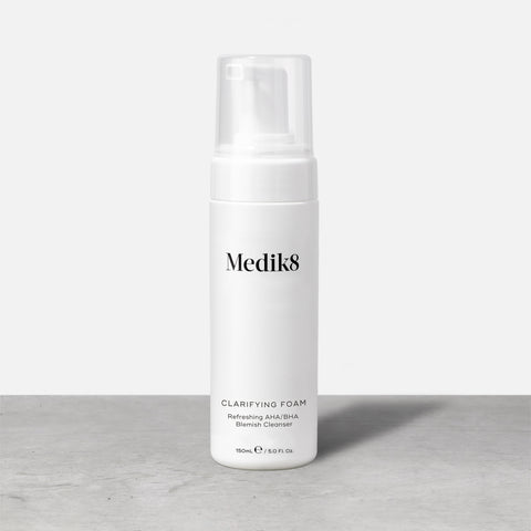 Clarifying Foam by Medik8. A Oil-Free AHA/BHA Blemish Cleanser