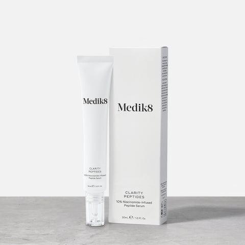 Clarity Peptides™ by Medik8. A 10% Niacinamide-Infused Peptide Serum