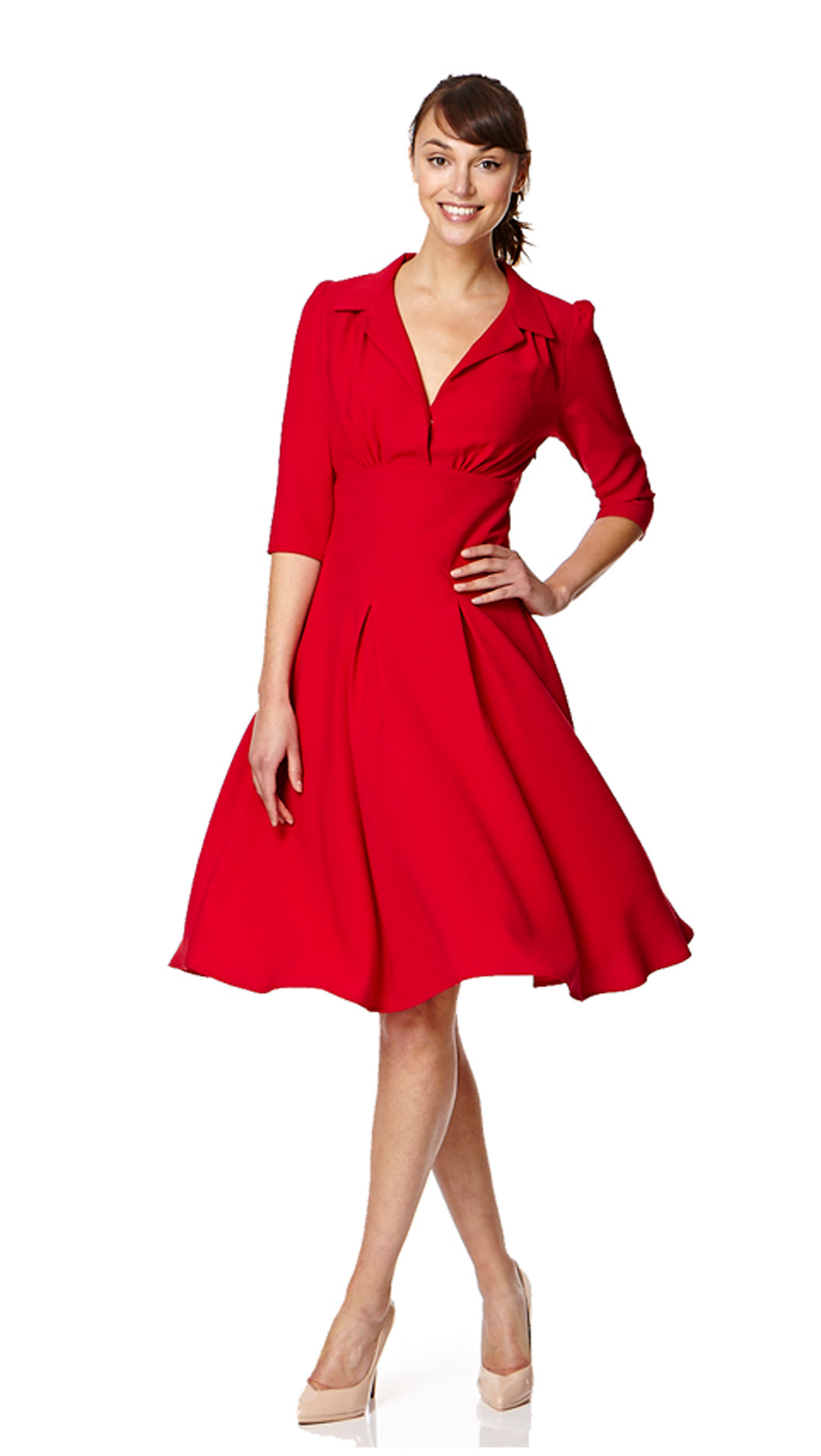The Dorothy in red crepe