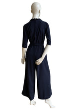 Load image into Gallery viewer, The Jumpsuit in navy crepe