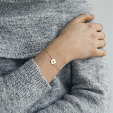 Compass Bracelet Gold Plated