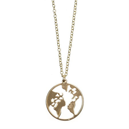 Long Necklace Earth Pendant