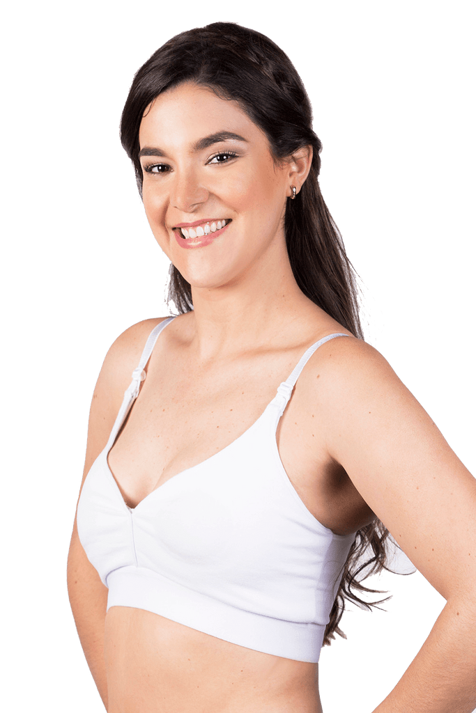 Top cuello V blanco CocoMaternity
