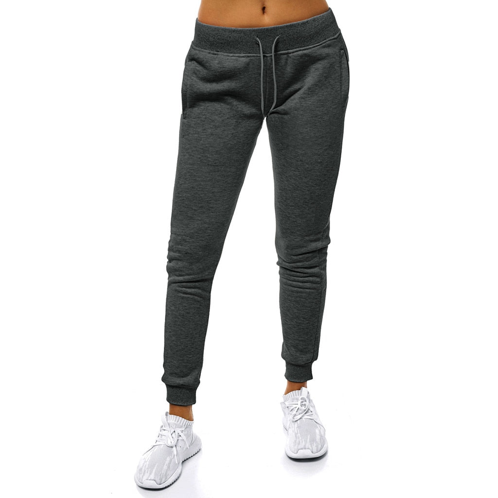 Casual Solid Lace Up Pants Women Joggers Women Sweatpants Pants Women Cotton Sweatpants Women Plain Pantalon Femme#J30