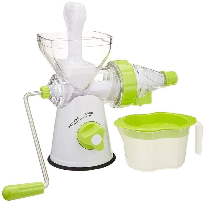 Multifuctional Kitchen Manual Hand Crank Single Auger Juicer with Suction Base Hand Juicer for Wheatgrass Fruit Vegetable