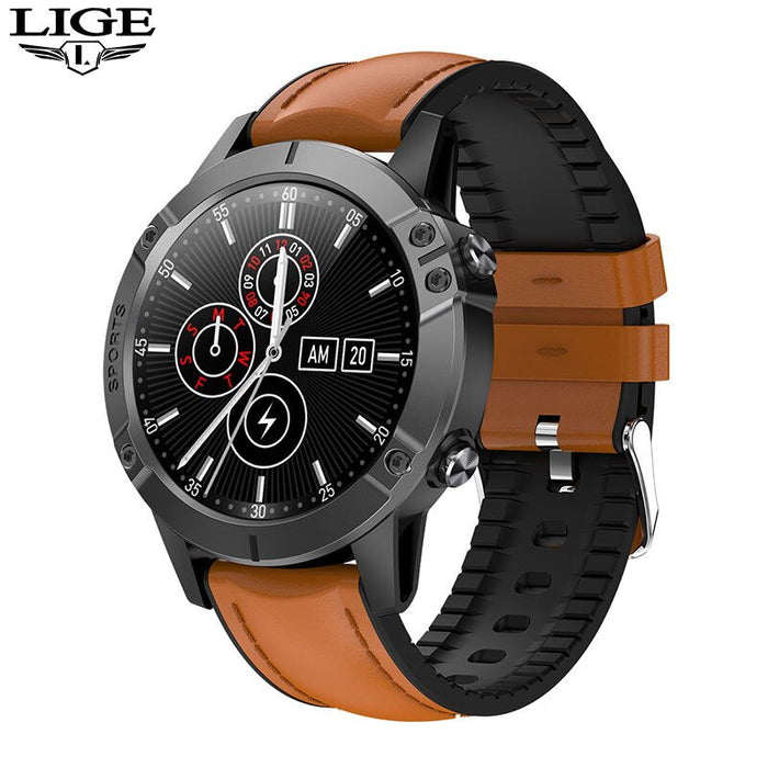 LIGE Full Touch Screen Smart Watch Men Sports Fitness Tracker For Android ios Heart Rate Health Waterproof Electronic smartwatch