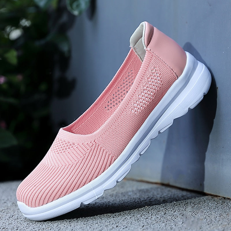 2020 New Summer Breathable Women's Flat Shoes Woman Casual Flats Women Sneakers Mocassin Femme Espadrilles Hollow Out Feminino