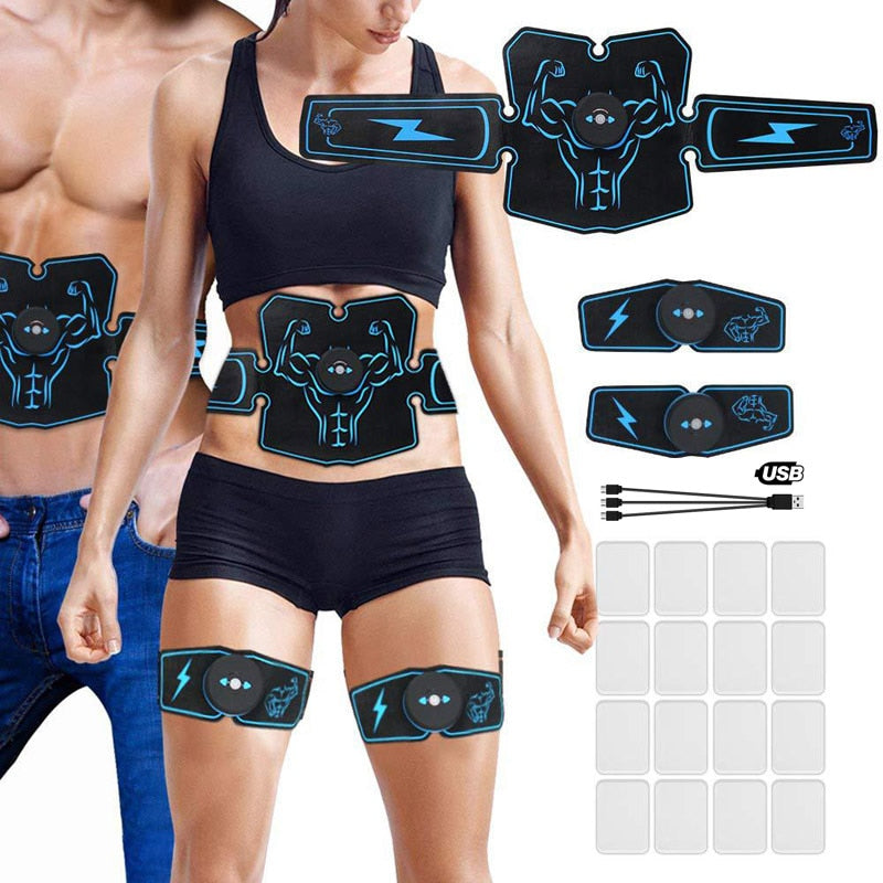 Electronic Abdominal Muscle Stimulator Toner EMS waist trainer Abs Fitness Gear Electrostimulation Exercise Home Gym Equipment