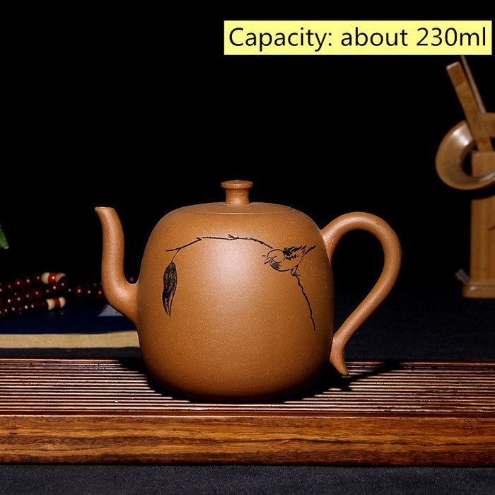 Retro tea set purple clay xi shi teapot Teaware decoration pot Authentic full handmade Chinese yixing purple sand teapot