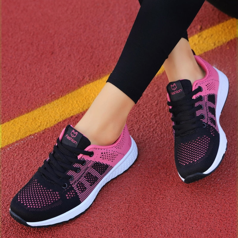 2020 New Women Shoes Flats Fashion Casual Ladies Shoes Woman Lace-Up Fabric Breathable Female Sneakers Zapatillas Mujer