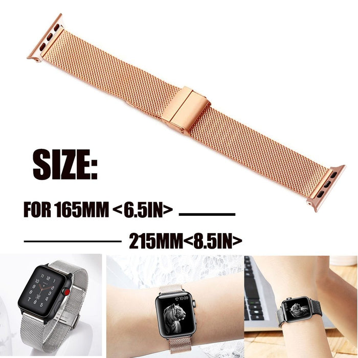 Milanese Watchband for Apple Watch 38mm 42mm Stainless Steel Gold Women Men Replacement Bracelet Band Strap for iwatch 1 2 3 4 5