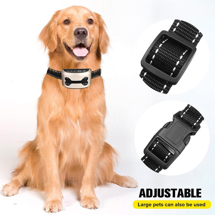 Anti-Bark Training Collar for Dogs - Ultrasonic Rechargeable Waterproof Vibrating
