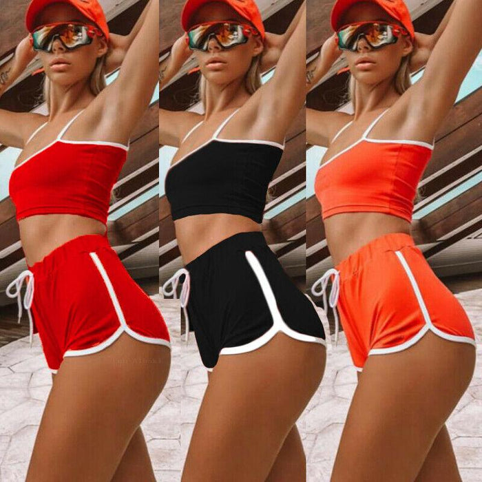 Women Sexy Patchwork Yoga Suit Workout Sports Yoga Set
