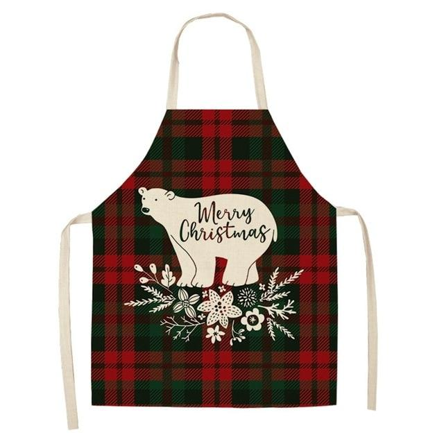 Merry Christmas Home Kitchen Apron Linen
