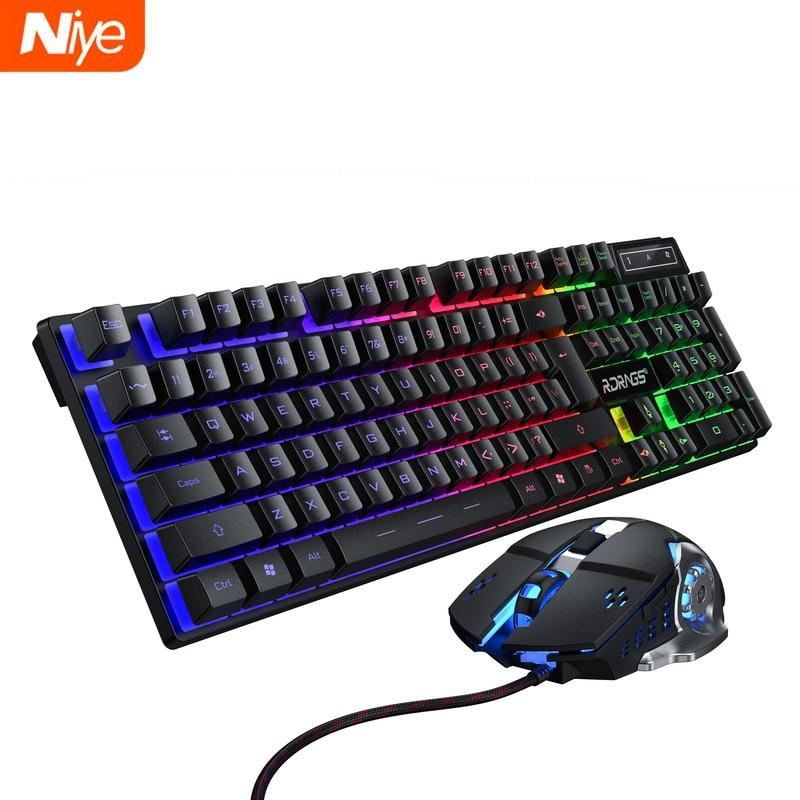 Gaming keyboard and Mouse Wired backlight
