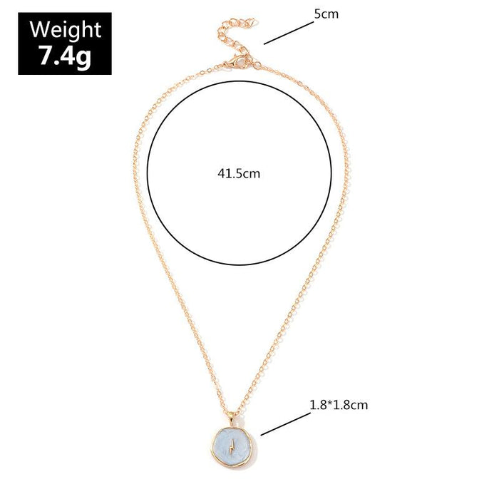 Celestial Stars + Moon Pendant Necklace