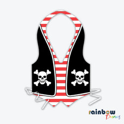 Beistle 66236 Plastic Pirate Vest