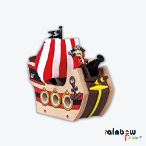 Wooden Railway System Pirate Ship