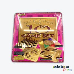 Fundex solid wood 10 games set