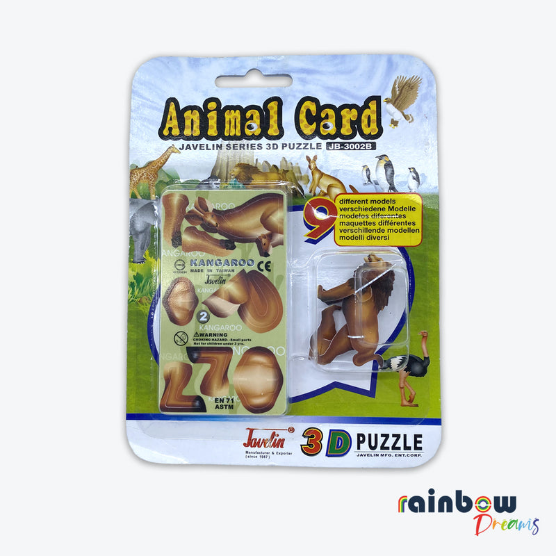 Javelin Series 3D puzzle Animal Card