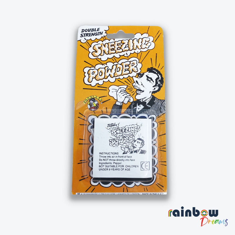 Classic retro joke novelty gag sneezing powder