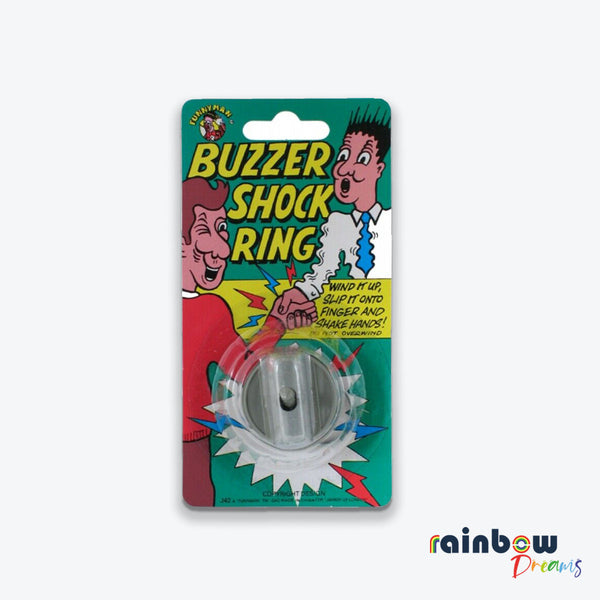 Wind Up Buzzer Shock Ring Joke