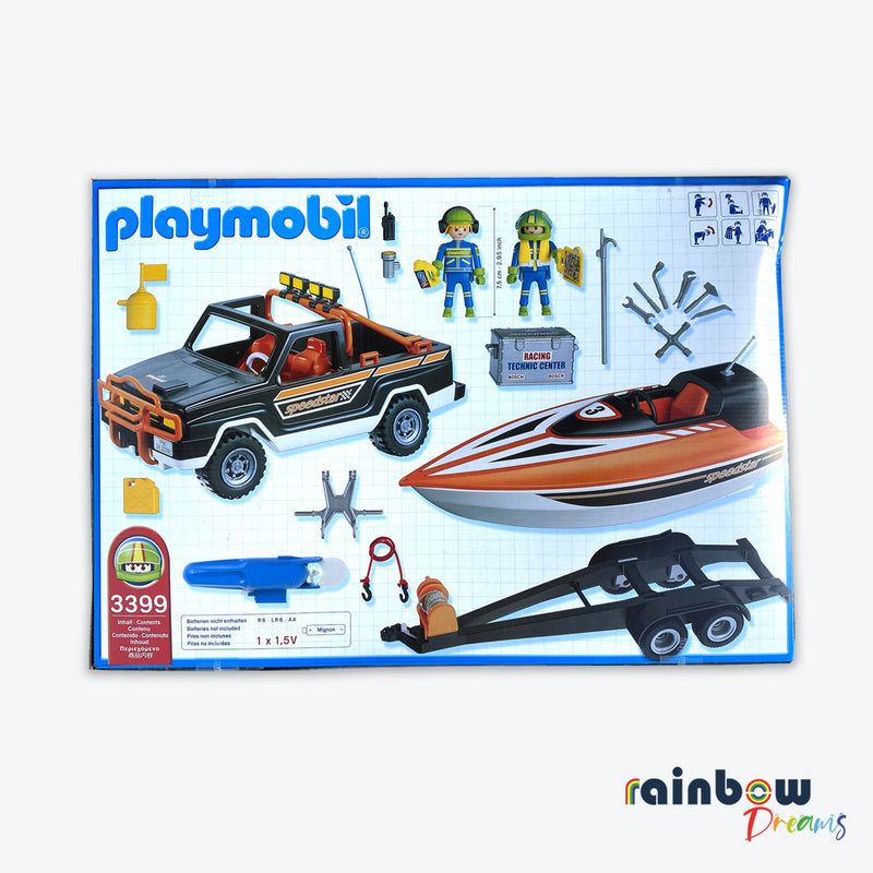 Playmobil Pickup With Speedboat