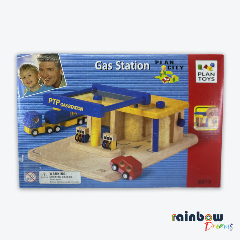 Plan City Gas Station Wooden Toy