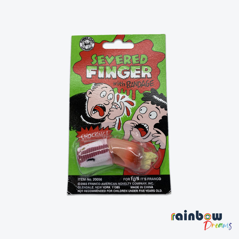SEVERED FINGER WITH BANDAGE