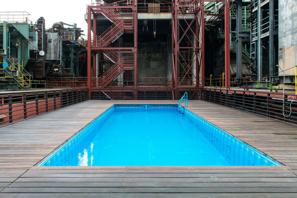 Architekturfotografie Architektur Zeche Zollverein Swimmingpool Workshop Fotokurs