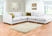 Carter 2 by 1 Seater and Footstool Right Hand Facing Corner Group