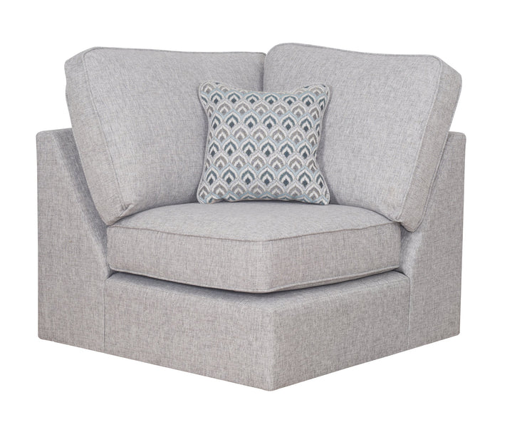 Memphis Right Hand Facing Chaise Corner Group with Footstool