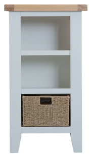Two Tone Small Narrow Bookcase