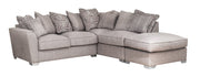 Fantasia 2 by 1 Seater with Footstool Right Hand Facing Pillow Back Sofa Bed Corner Group