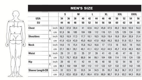 Mens Size Chart | Addicted City