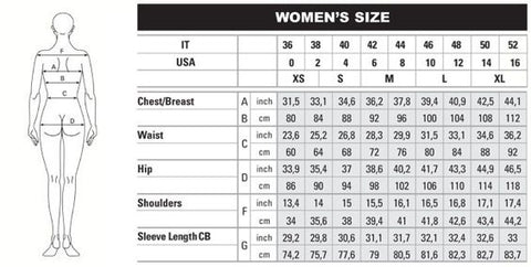 Womens Size Chart | Addicted City