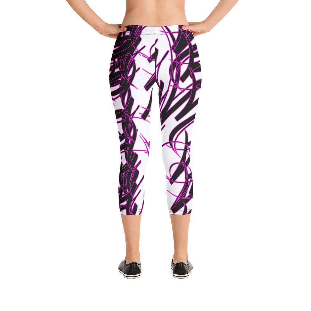 Addicted City Graffiti Capri Leggings
