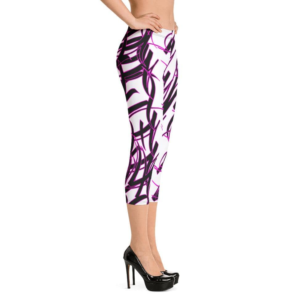 Addicted City Graffiti Capri Leggings - Addicted City