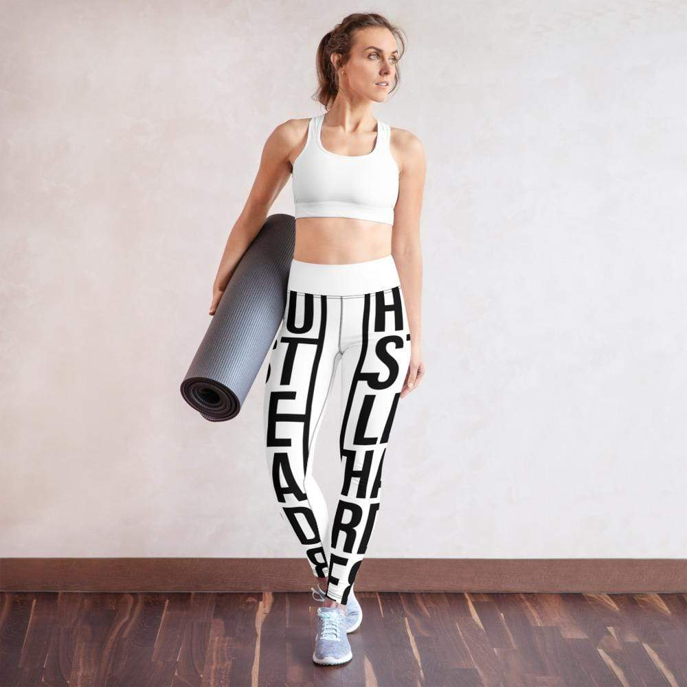 Addicted City Hustle Harder Yoga Leggings - Addicted City