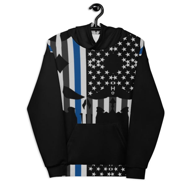 Addicted City Thin Blue Line Hoodie - Addicted City