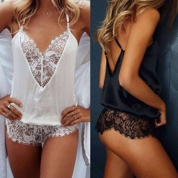 Amelia Lace Teddy Bodysuit & Lingerie - Addicted City