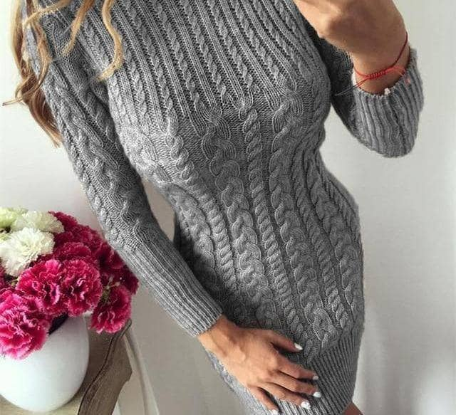 Bodycon Sweater Dress by I am Beauty™ - Addicted City