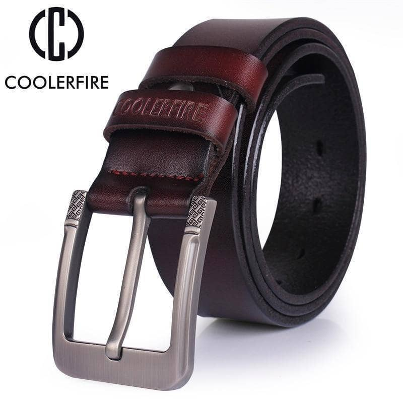 CoolerFire Mens Leather Belt - Addicted City